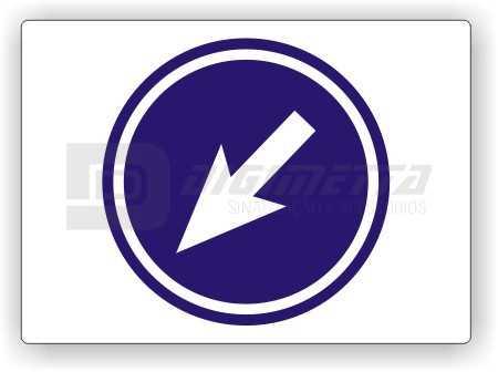 Placa: Comando - Sentido Obrigatório