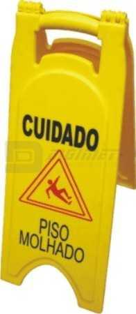 Cavalete Plástico: Cuidado - Piso Molhado