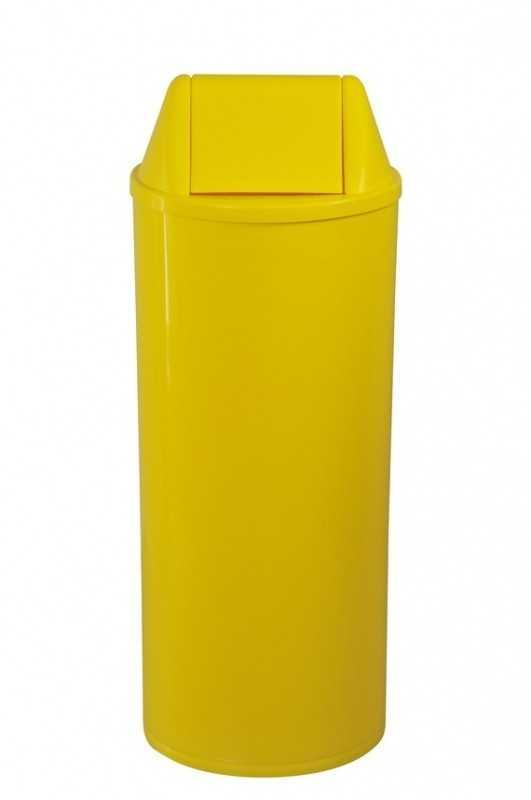 Cesto para Coleta Seletiva 22 Litros Amarela