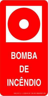 Placa: Bomba de Incêndio