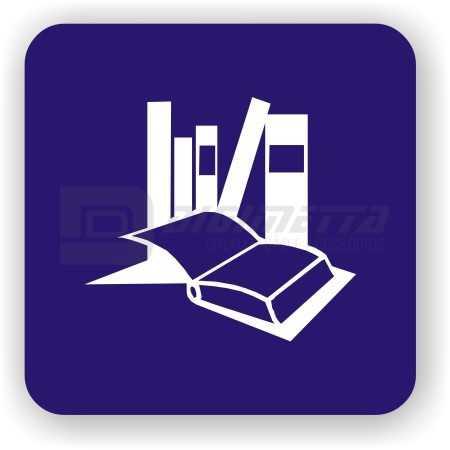 Placa: Pictograma de Biblioteca