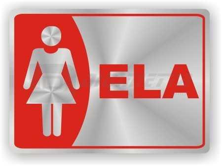Placa: Sanitário Feminino