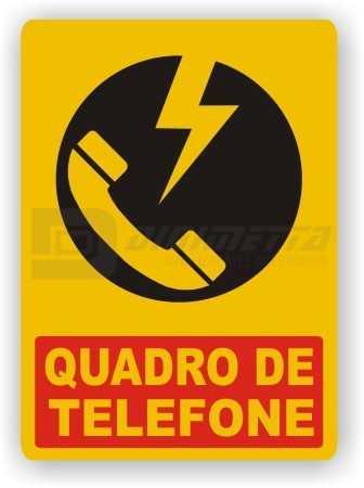 Placa: Quadro de Telefone