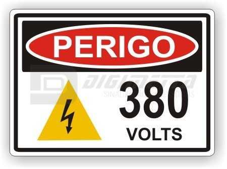Placa: Perigo - 380 Volts
