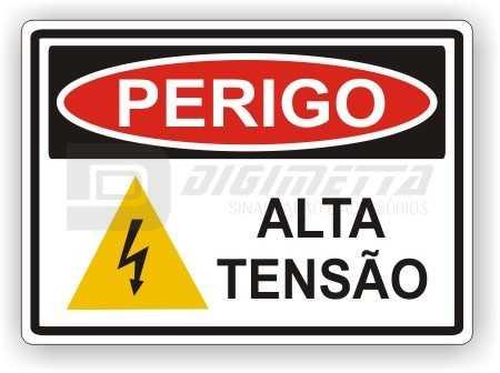Placa: Perigo - Alta Tensão